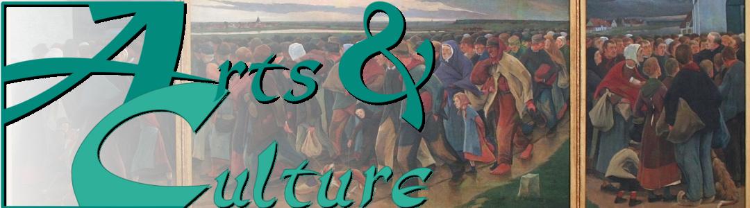 Logo d'arts et culture sur tableau