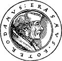 gravure représentant la tête d'Erasme de profil