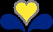 la fleur stylisée en forme de coeur