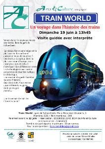Le samedi 19 juin à 13h45, nous vous ferons voyager à travers l'histoire des trains