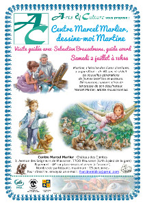 Le samedi 2 juillet à 13h45, visite du centre Marcel Marlier, le dessinateur de Martine