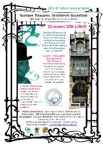 Pour le 23 octobre, nous prévoyons une visite en 2 parties :  Tout d'abord, à 13h45, la visite guidée de l'expositon « Moi, Gustave »  Ensuite la visite d'une maison particulière conçue par l'architecte