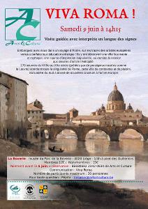 Vue de Rome avec un pont en pierres