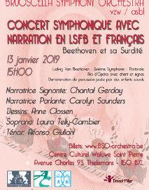 affiche du spectacle de Beethoven