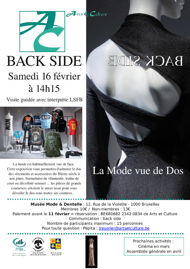 affiche de l'expo back side