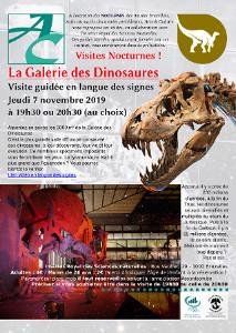 Affiche montrant un crâne de tyrannosaure et un squelette de tricératops