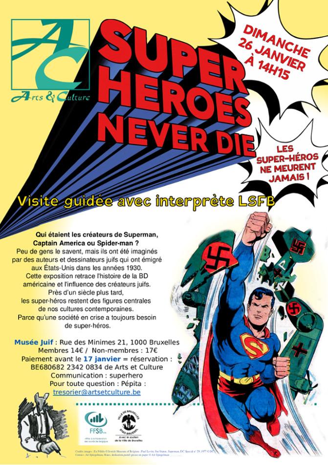 superman détruisant un avion nazi