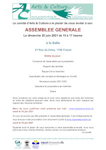 Programme de notre assemblée générale