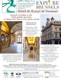 vues intérieures et extérieure de l'hôtel particulier, illustrant son style éclectique